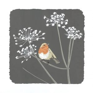 Redbreast - Robin Square Blank Card