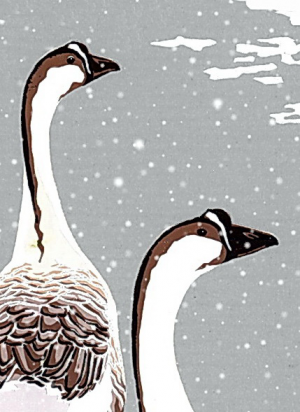 Chinese Geese Christmas Cards - 80x112mm