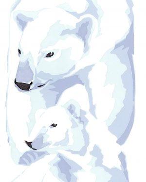 Polar Bear Christmas Cards - 80x112mm