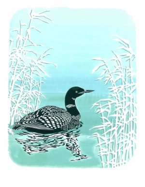 Black Throated Diver Portrait Blank Card