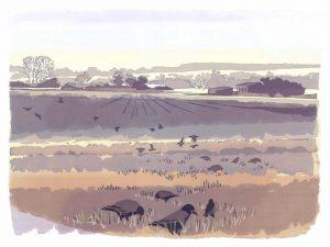 Early Pickings – Landscape Blank Card