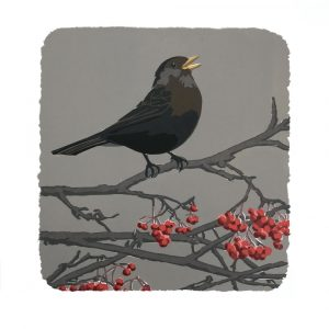 Feathered Thing - Square Blank Card