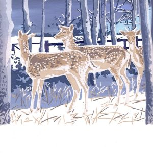 First Winter - Square Blank Card