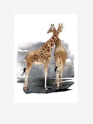 Giraffes - Original Watercolour