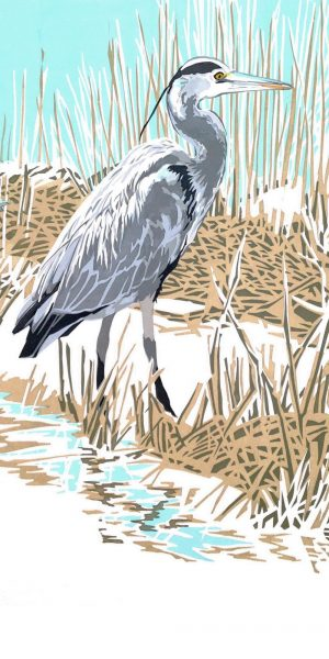 Heron Portrait Blank Card