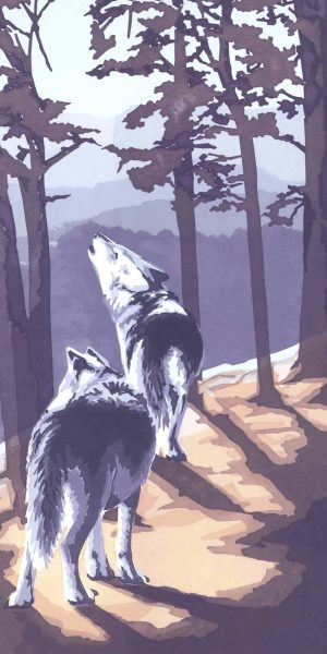 On Patrol - Wolves - Portrait Blank Card
