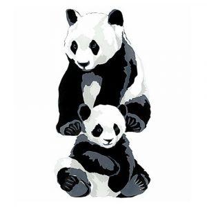 Pandas - Square Blank Card