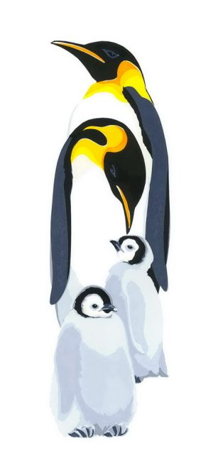 Penguins - Portrait Blank Card