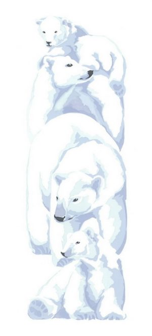 Polar Bears - Portrait Blank Card
