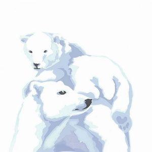 Polar bPolar Bears - Square Blank Card