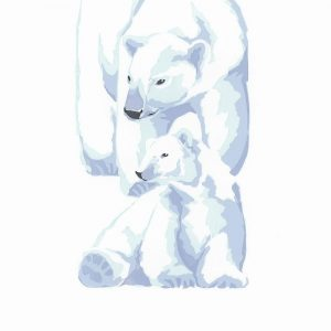 Polar Bears - Square Blank Card