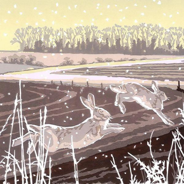 Snowy Running - Christmas Cards