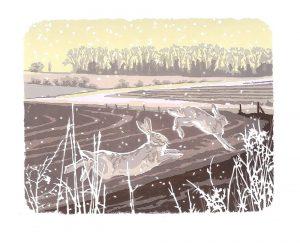 Snowy Running - Studio Print