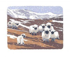 Snowy Valais - Studio Print
