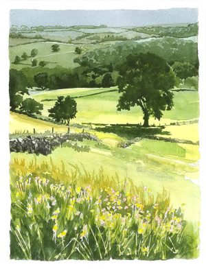 Summer Landscape - Original Watercolour