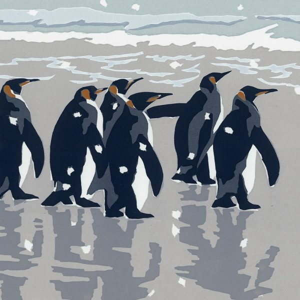 King Penguins - Square Christmas Card