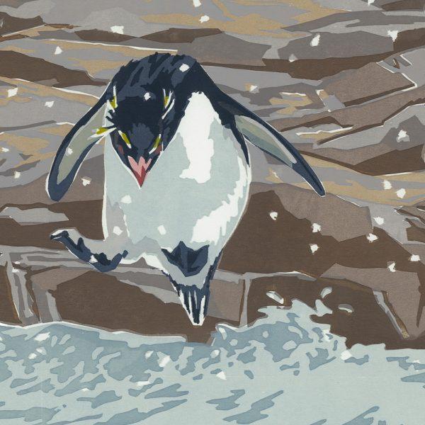 Rockhopper Penguin - Square Christmas Card