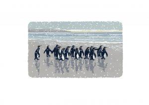 Snowy Beach Kings - Studio Print